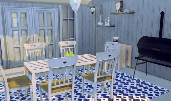 Sims 4 deco jardin ete salon terrasse cc for Exterieur sims 4