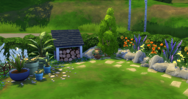 Jardin anglais id e d coration custom content cc sims 4 for Deco jardin anglais