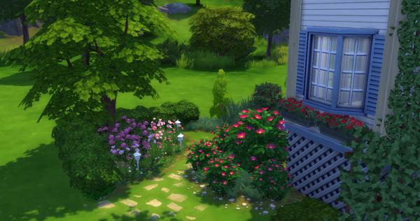 Jardin anglais id e d coration custom content cc sims 4 for Idee jardin anglais