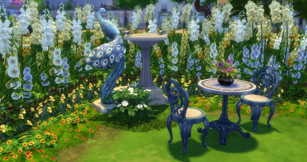 jardin, anglais, idée décoration, custom content, cc, sims 4