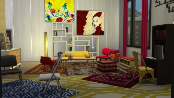 Fan day vie citadine city living sims 4 for Deco appartement sims 4