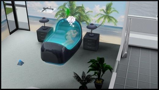 7 sims 3 fan day add on en route vers le futur nouveaux objets futuristes Lit distributeur de rêves