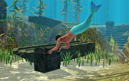 Sims 3 Île de rêve plongée sirène