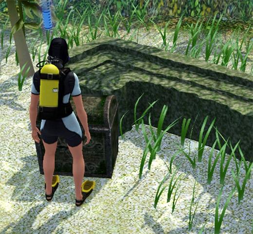 Sims 3 Île de rêve plongée coffre