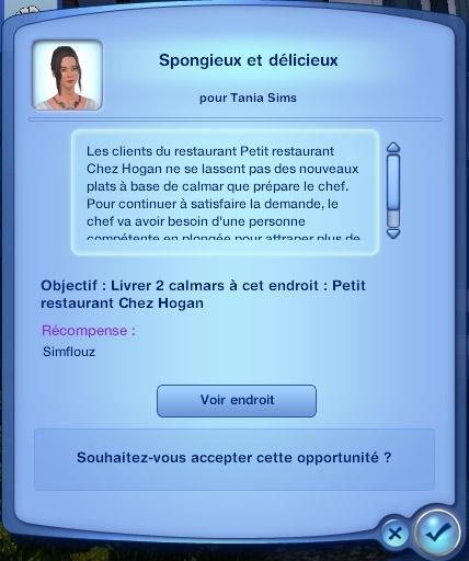 Sims 3 Île de rêve travail plongée