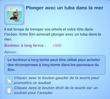 Sims 3 Île de rêve plonger avec un tuba