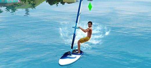 Sims 3 Île de rêve planche à voile
