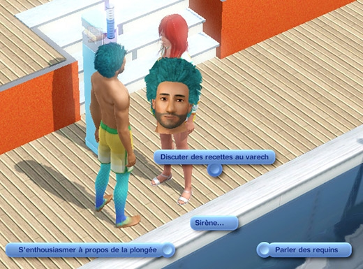 Sims 3 Île de rêve discussions des sirènes