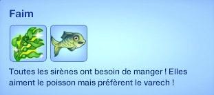 Sims 3 Île de rêve sirène faim manger