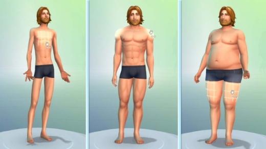 Les Sims 4 - CAS - corps