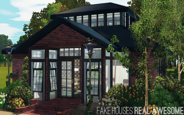 Interview fake houses real awesome maison sims 3 sims 4 for Modele maison sims 2