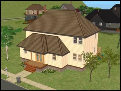 montsimpa sims 2 famille dourève maison gros plan