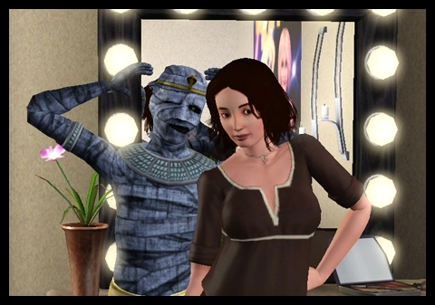 1 Sims 3 interview momie destination aventure fuyaya et momie posent
