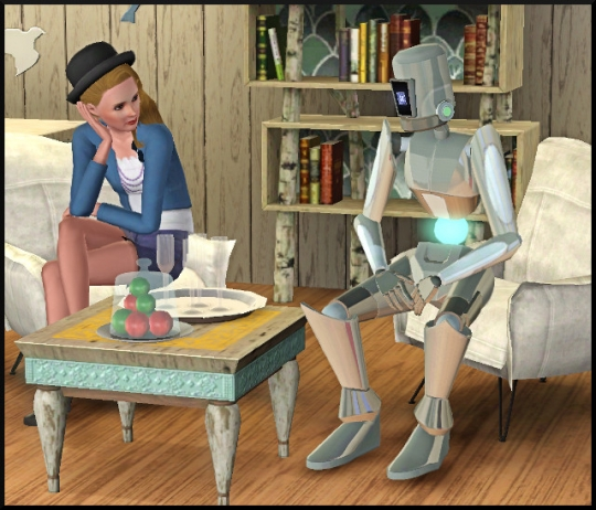 2 sims 3 en route vers le futur interview plumbot bloup et plumbot assis