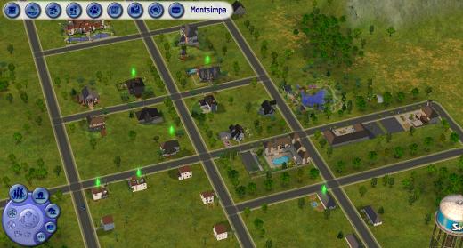 Montsimpa, le premier quartier des Sims 2