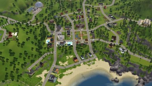 Sunset Valley, le premier quartier ouvert de la série Les Sims