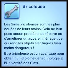 1 sims 3 competence bricolage trait caractere bricoleur