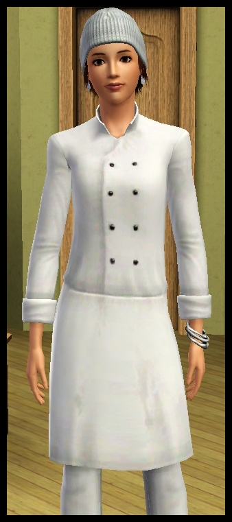 Sims 3 article test add on carri re culinaire cuisine for Tenue professionnelle cuisine