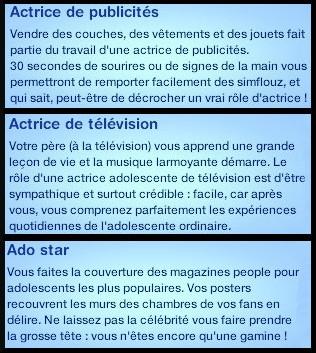 25 sims 3 carriere mi temps acteur television acteur publicite ado star
