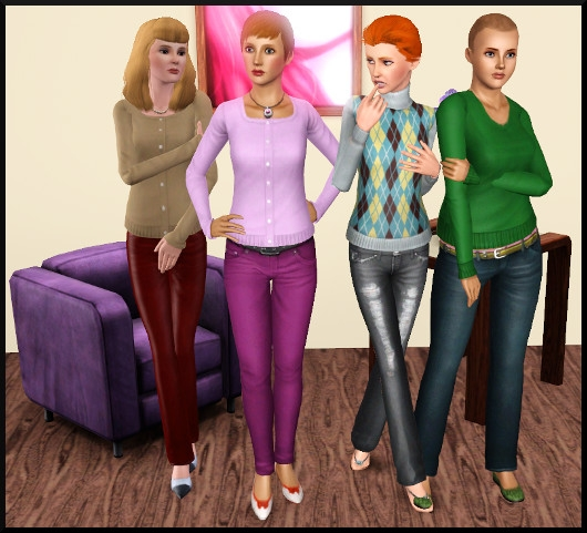 5 sims 3 create a sims vetement coiffure femme
