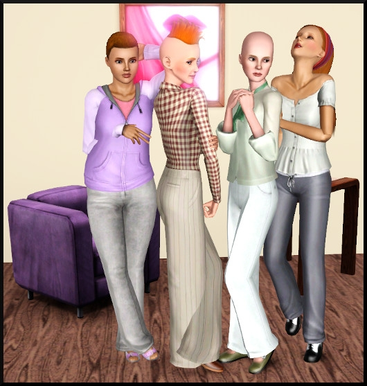 6 sims 3 create a sims vetement coiffure femme