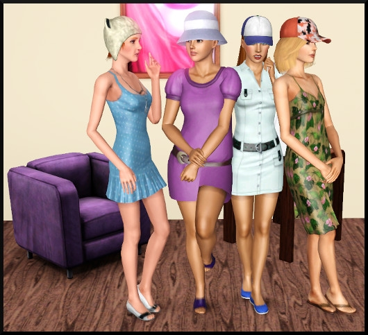 9 sims 3 create a sims vetement coiffure femme