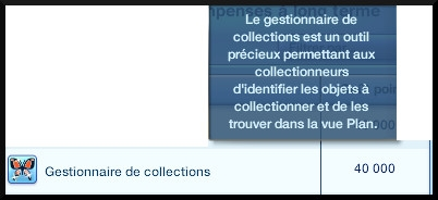 2 sims 3 collection pierre metal insecte achat gestionnaire collection recompense long terme