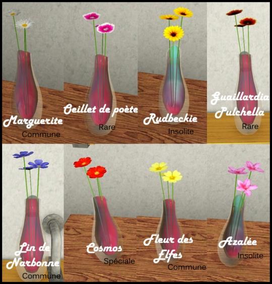 28 sims 3 collection pierre metal insecte tableau fleur saisons