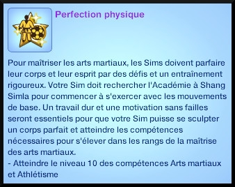 2 sims 3 competence atlhetisme souhait long terme perfection physique