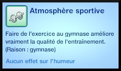 24 sims 3 competence atlhetisme moodlet atmosphere sportive gymnase