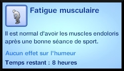 26 sims 3 competence atlhetisme moodlet fatigue musculaire