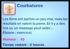 27 sims 3 competence atlhetisme moodlet courbatures