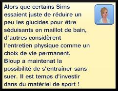 29 sims 3 competence atlhetisme message niveau 1