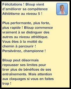 34 sims 3 competence atlhetisme niveau 5