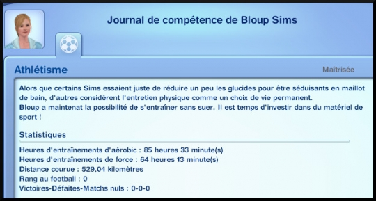 43 sims 3 competence atlhetisme journal competence