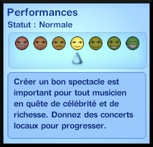 13 sims 3 competence guitare carriere musicale perfomance concert information