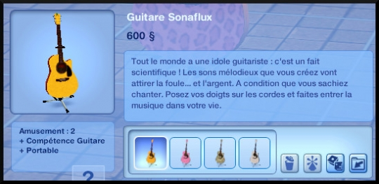 21 sims 3 competence guitare carriere musicale achat guitare