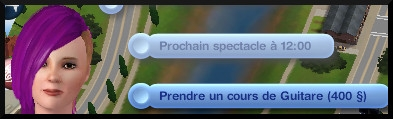 26 sims 3 competence guitare carriere musicale interaction prendre cours guitare theatre