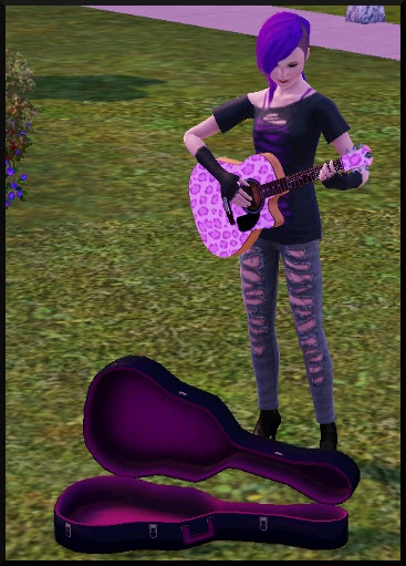 35 sims 3 competence guitare carriere musicale jouer guitare parc