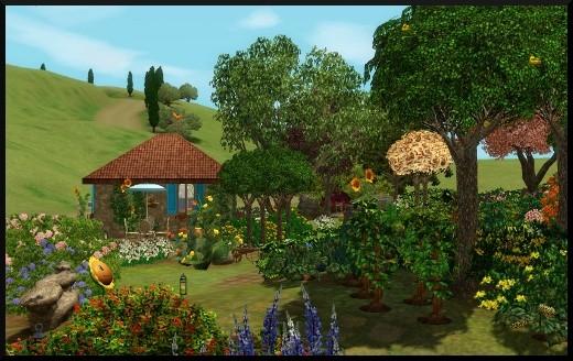2 sims 3 competence jardinage introduction jardin vue générale