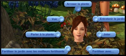 4 sims 3 competence jardinage interactions plante desherber parler arroser entretenir