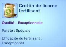 10 sims 3 competence jardinage crottin de licorne fertilisant