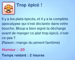 Sims 3 compétence jardinage moodlet piment trop épicé