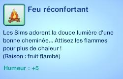 Sims 3 compétence jardinage moodlet feu réconfortant buisson fruit flambé
