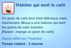 Sims 3 compétence jardinage moodlet haleine café graine café