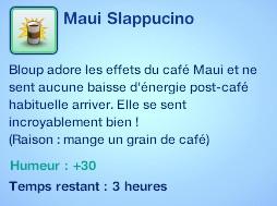 Sims 3 compétence jardinage moodlet slapuccino graine café