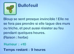 Sims 3 compétence jardinage moodlet bullofeuil