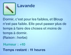 Sims 3 compétence jardinage moodlet lavande