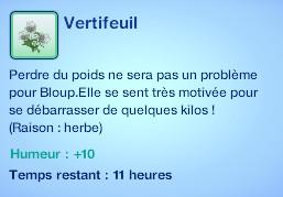 Sims 3 compétence jardinage moodlet vertifeuil