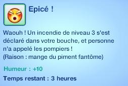 Sims 3 compétence jardinage moodlet piment épicé